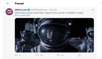 Space dot com twitter
